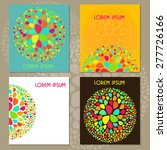 colorful card set | Shutterstock .eps vector #277726166