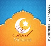 eid mubarak greeting card with... | Shutterstock .eps vector #277732292