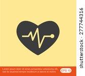 cardiogram vector icon | Shutterstock .eps vector #277744316
