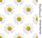 seamless background with daisy... | Shutterstock . vector #277763726