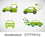 eco car design  vector... | Shutterstock .eps vector #277774712
