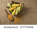 corn maize and popcorns... | Shutterstock . vector #277776968