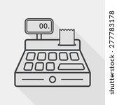 shopping cash register flat... | Shutterstock .eps vector #277783178