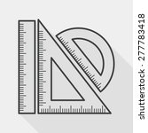 ruler flat icon with long... | Shutterstock .eps vector #277783418