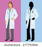 female physician   doctor in a... | Shutterstock .eps vector #277792046