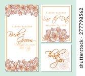 flower blossom. wedding...   Shutterstock .eps vector #277798562