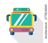 bus flat icon with long shadow | Shutterstock .eps vector #277814045