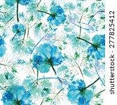 beautiful imprint watercolor... | Shutterstock . vector #277825412