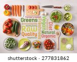 healthy fresh vegetables salad... | Shutterstock . vector #277831862