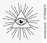 all seeing eye  magical element ... | Shutterstock .eps vector #277836875