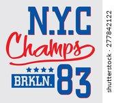 athletic sport new york... | Shutterstock .eps vector #277842122