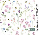 vector watercolor pattern with...   Shutterstock .eps vector #277845932