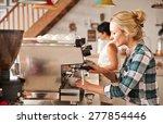 cafe staff at work | Shutterstock . vector #277854446