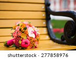 colourful bridal bouquet with... | Shutterstock . vector #277858976