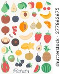food collection   fruit | Shutterstock .eps vector #277862675