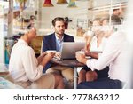business meeting in a cafe | Shutterstock . vector #277863212