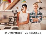 cafe owners  portrait | Shutterstock . vector #277865636