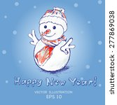 snowman vector illustration | Shutterstock .eps vector #277869038