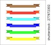 vector ribbons and labels... | Shutterstock .eps vector #277872302