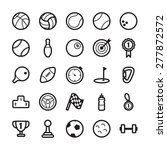 sport outline icons | Shutterstock .eps vector #277872572