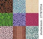 seamless animal skin pattern | Shutterstock .eps vector #277873916