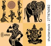 set of ornamental indian... | Shutterstock .eps vector #277876082