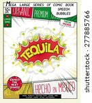 tequila. colorful explosion... | Shutterstock .eps vector #277885766