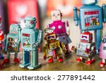 group of vintage robots | Shutterstock . vector #277891442