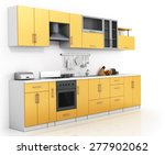 modern kitchen on the white... | Shutterstock . vector #277902062