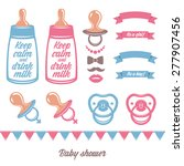 baby shower vector design... | Shutterstock .eps vector #277907456