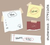 notepaper with messages and... | Shutterstock .eps vector #277911656