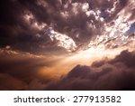 rays of light shining through... | Shutterstock . vector #277913582