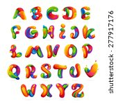 fun english alphabet letters... | Shutterstock .eps vector #277917176