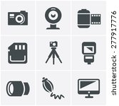 photography icons set  vector... | Shutterstock .eps vector #277917776