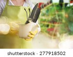small business flower shop owner | Shutterstock . vector #277918502