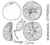 set of orange line drawn on a...   Shutterstock .eps vector #277920512