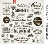 set of summer elements ... | Shutterstock .eps vector #277924442