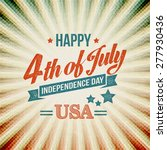 independence day typography... | Shutterstock .eps vector #277930436