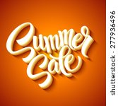 summer sale message on orange...   Shutterstock .eps vector #277936496
