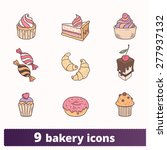 bakery  pastry and sweets... | Shutterstock .eps vector #277937132