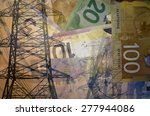 high voltage electric tower or... | Shutterstock . vector #277944086