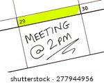 Meeting Date Highlighted On A...
