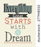 retro  motivational background  ... | Shutterstock .eps vector #277948532