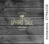 spring sale badges logos and... | Shutterstock .eps vector #277961228