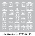 buildings set.  | Shutterstock .eps vector #277964195