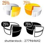chart elements. pie chart.... | Shutterstock .eps vector #277964642