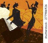 club singer a jazz club singer...   Shutterstock .eps vector #277986926