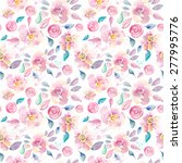 watercolor floral seamless... | Shutterstock . vector #277995776