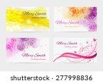 set of four business card... | Shutterstock .eps vector #277998836