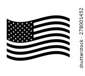american flag vector icon | Shutterstock .eps vector #278001452
